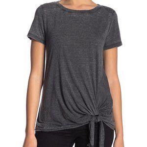 NWT SUSINA Burnout Tie Hem T-Shirt Size SP